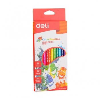 Creioane Colorate 12 Culori Color Emotion Deli