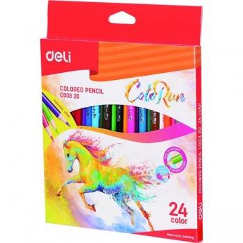 Creioane Colorate 24 Culori Colorun Deli