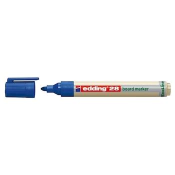 Marker pentru tabla Edding 28, ecologic, varf rotund, 1.5-3 mm, albastru