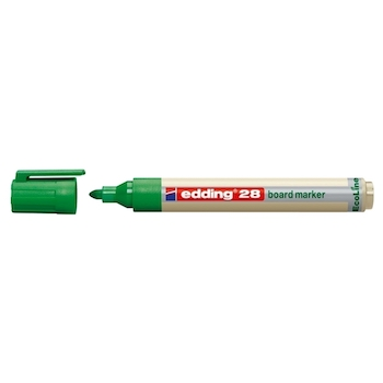 Marker pentru tabla Edding 28, ecologic, varf rotund, 1.5-3 mm, verde