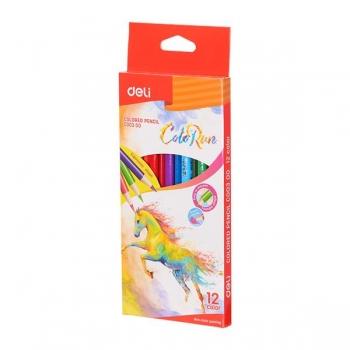 Creioane Colorate 12 Culori Colorun Deli