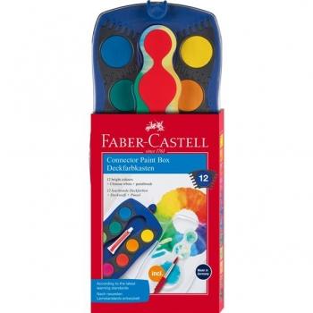Acuarele 12 Culori Connector Albastre Faber-Castell