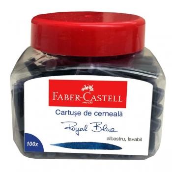 Cartuse Cerneala Mici Albastre 100 Buc/Borcan Faber-Castell
