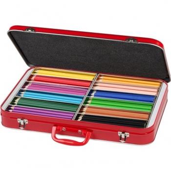 Cutie Metal 300 Creioane Colorate Triunghiulare Faber-Castell