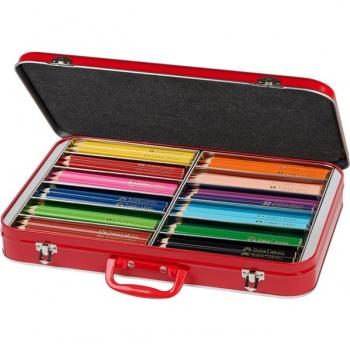 Cutie Metal 144 Creioane Colorate Jumbo Faber-Castell