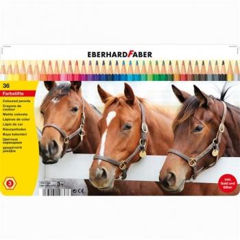 Creioane Colorate 36 Culori Cutie Metal Eberhard Faber
