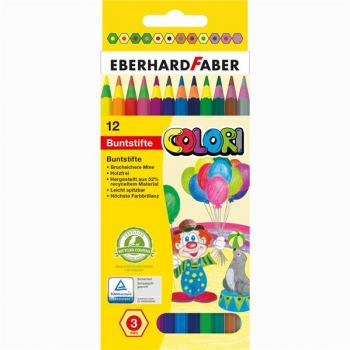 Creioane Colorate Plastic 12 Culori Corp Color Eberhard Faber