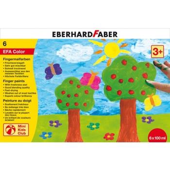 Set Pictura cu Degetele 6 Culori 100 ml Eberhard Faber
