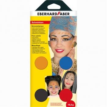 Set Pictura Pentru Fata 4 Culori cu Pensula Oriental Eberhard Faber