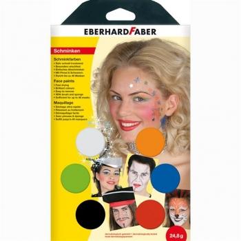 Set Pictura Pentru Fata 6 Culori cu Pensula Musical Eberhard Faber