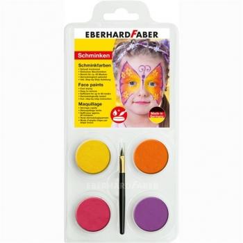 Set Pictura Pentru Fata 4 Culori cu Pensula Fluturi Eberhard Faber