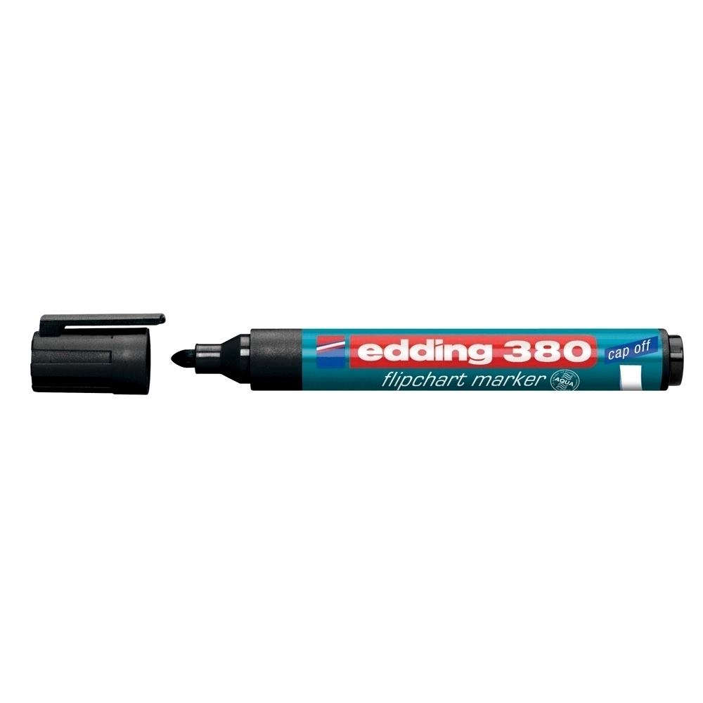 Marker Edding 380 pentru flipchart, varf rotund, 1.5-3 mm, negru