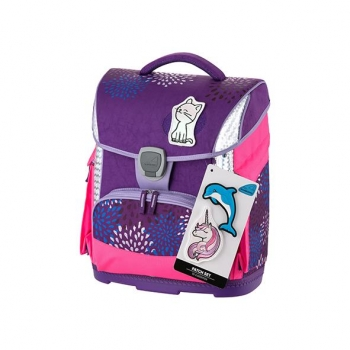 Ghiozdan Sprinkle Plus Violet cu Etui, Sac Sport, Stickere, Cut. Pt Carti Schneiders