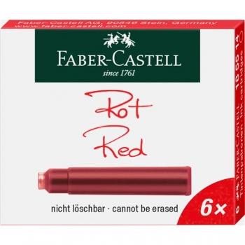 Cartuse Cerneala Mici Rosii 6 Buc/Cutie Faber-Castell