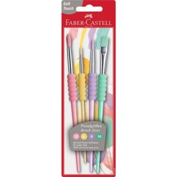 Set 4 Pensule Soft Touch Pastel Faber-Castell