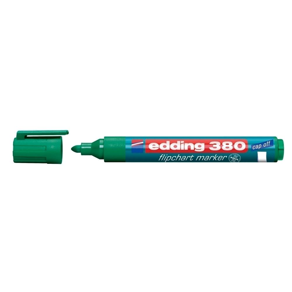 Marker Edding 380 pentru flipchart, varf rotund, 1.5-3 mm, verde