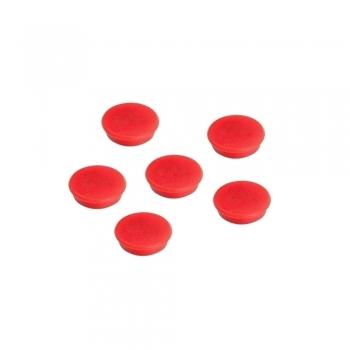 Magneti A-series, 24 mm, 10 bucati/set, rosii