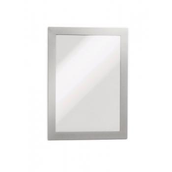 Display magnetic Durable Duraframe, A5, argintiu, 2 bucati/set