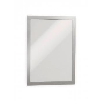 Display magnetic Durable Duraframe, A4, argintiu, 2 bucati/set