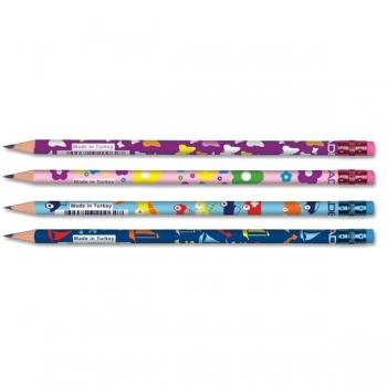 Creion Grafit Cu Guma HB Kids Adel