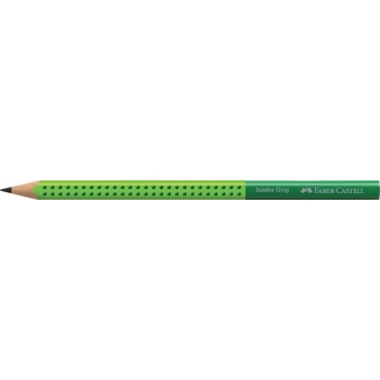 Creion Grafit B Jumbo Grip Two Tone Verde Faber-Castell