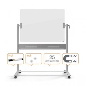 Whiteboard Mobil Sticla Magnetic 90x120 cm Diamond Nobo