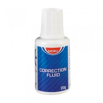 Fluid corector Noki, 20 ml, pe baza de solvent, aplicator cu pensula