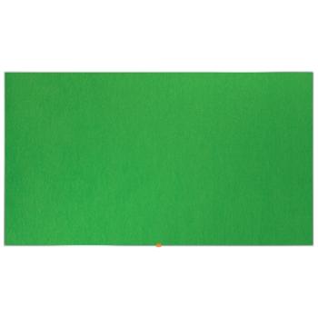 Panou Textil Widescreen Rama Aluminiu Verde Nobo