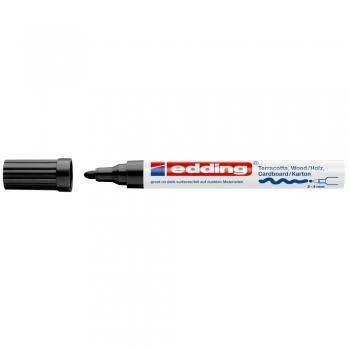 Marker permanent Edding Deco 4000, varf rotund,  2-4 mm, negru