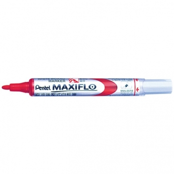 Marker pentru tabla Pentel Maxiflo, varf rotund, 4 mm, rosu