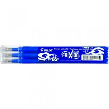 Rezerva roller, Pilot, Frixion, 0.7 mm, plastic, albastru, 3 bucati/set