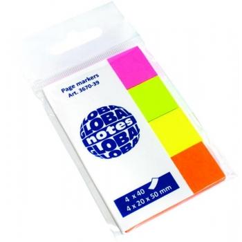 Index Adeziv 4 x 20 x 50 mm 4 culori 40 File Global Notes