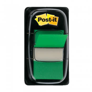 Index Post-it® Clasic,  25.4 x 43.2 mm, verde