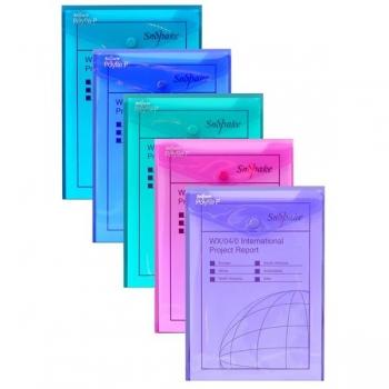 Mapa Plastic A5 Deschidere T Culori Asortate Electra Polyfile Snopake