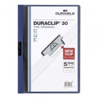Dosar de prezentare Durable Duraclip, 30 coli, albastru inchis