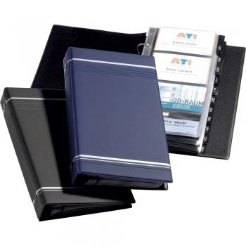 Visifix 2385 Durable, 25 file, 400 carti de vizita, albastru