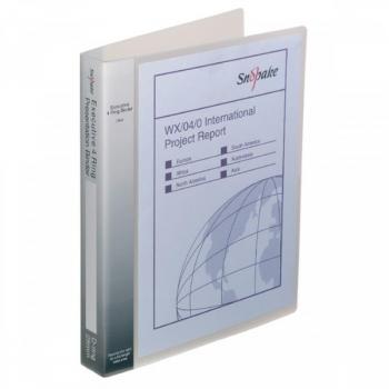 Caiet Mecanic A4 4 Inele 25mm Coperti Flexibile Transparent Executive Snopake