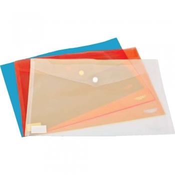 Mapa documente, Noki, A4, inchidere cu capsa, plastic, transparenta