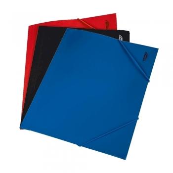 Mapa documente, A4, plastic, inchidere cu elastic, albastru