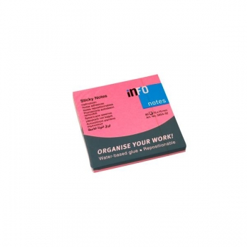 Notes Adeziv 75x75mm Roz Neon 80 File Global Notes