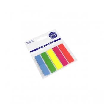 Index Adeziv 5x12x50mm 25 File 5 Culori Neon Global Notes