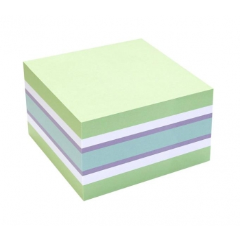 Notes Adeziv 75x75mm Verde Pal-Alb-Violet- Albastru 450 File Info Notes