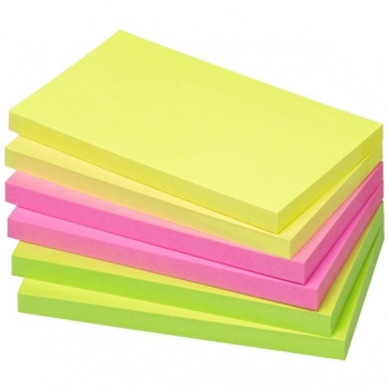 Notes Adeziv 75x125mm 80 File Neon Asortat Info Notes