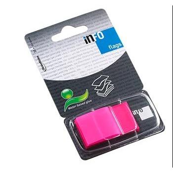 Index Adeziv Plastic 25x43mm 50 File Roz Info Notes