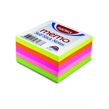 Notes Adeziv 76x76mm 5 Culori Neon 400 File Noki