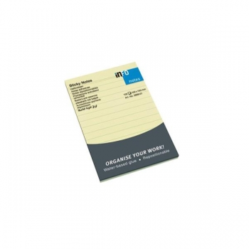 Notes Adeziv 100x150 mm Galben Liniat 100 File Info Notes