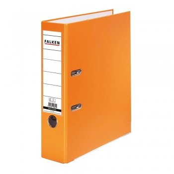 Biblioraft Falken plastifiat, 80 mm, portocaliu
