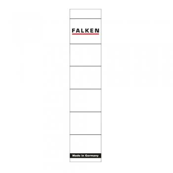 Etichete Falken autoadezive, pentru bibliorafturi,  36 x 190 mm, alb