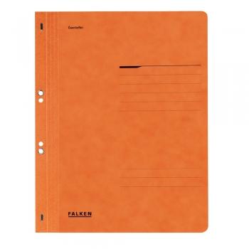 Dosar cu gauri 1/1 Lux Falken, carton, 250 g/mp, portocaliu