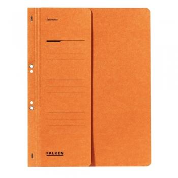 Dosar cu gauri 1/2 Lux Falken, carton, 250 g/mp, portocaliu